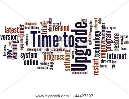 Time To Upgrade, Word Cloud Concept
