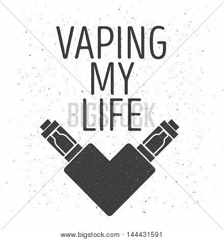 Logo Or Emblem Of Two Electronic Cigarettes