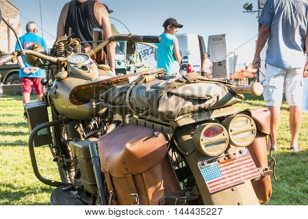 American Motorcycle World War Ii With His Arms Exhibition