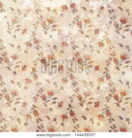 Floral pattern background flowers ornament wallpaper textile Illustration