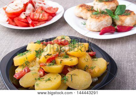 Natural Homemade Food Closeup