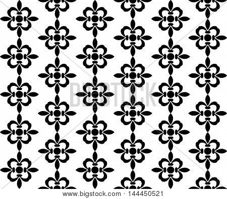 Vector illustration of a black and white pattern