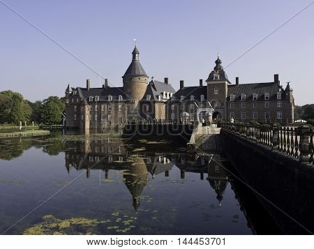 the Castle of anholt in Isselburg in germany