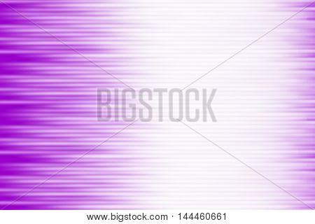 Purple background and white blurred rays of light blend to create abstract background