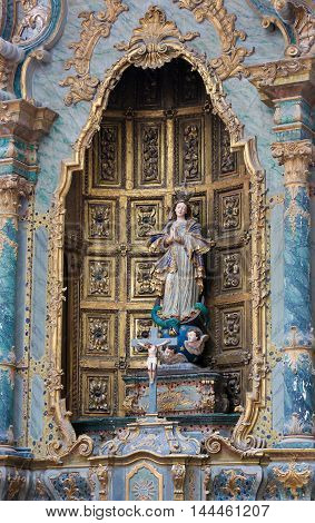 Mother Mary In Aveiro Carthedral, Portugal