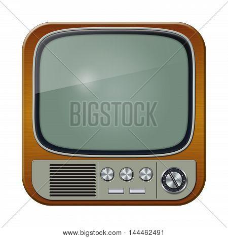 Retro TV set isolated on whie background