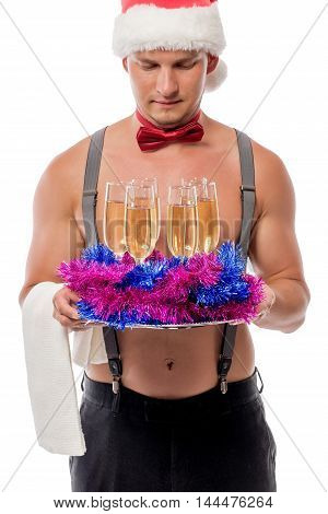 Stripper And Champagne For New Year's Bachelorette Party