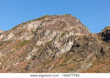 mountain  landscape in the beginning of autumn