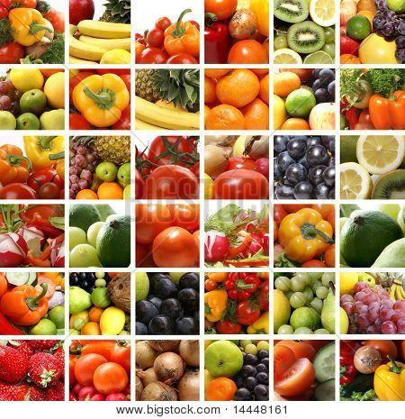 Ernährung-Collage von vielen Bildern