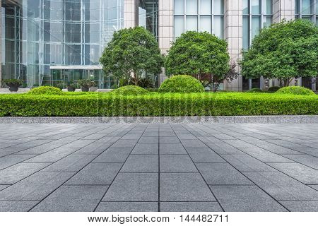 modern building outdoors with green lawn