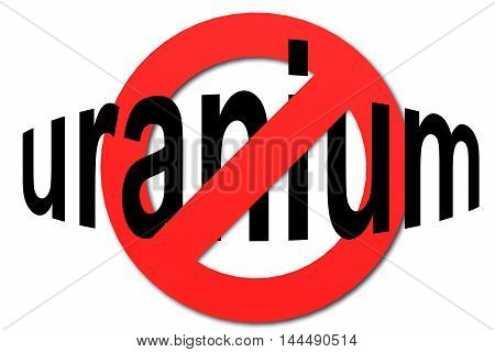 Stop Uranium Sign In Red