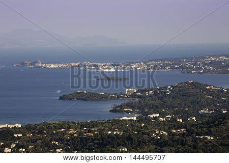 Corfu town panoramic view Kerkyra island Greece