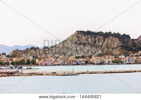 Landscape of  Zante, Zakynthos City Greece .