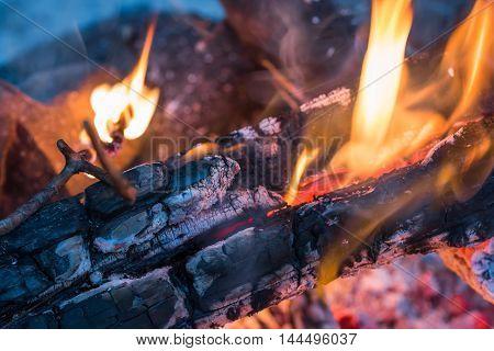 Burning Embers Closeup