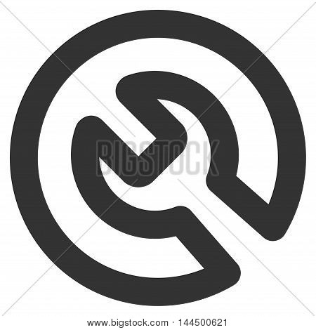 Install vector icon. Style is stroke flat icon symbol, gray color, white background.