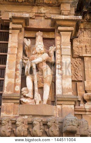 Tanjore temple in Tamil Nadu India Unesco building