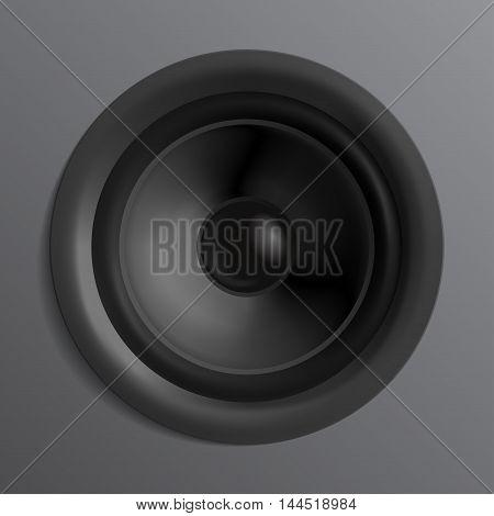 Vector realistic Surround speaker black - front view
