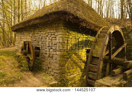 Ancient Rustic Watermill in Countryside