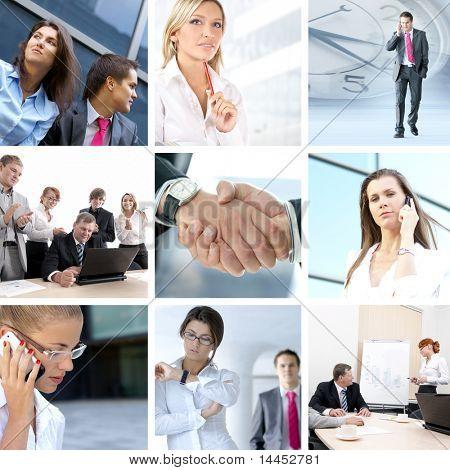 Business Collage von neun Business Bilder hergestellt