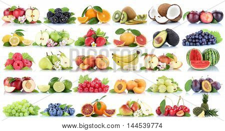 Fruits Fruit Collection Orange Apple Apples Banana Strawberry Pear Grapes Lemon Cherry Organic Isola