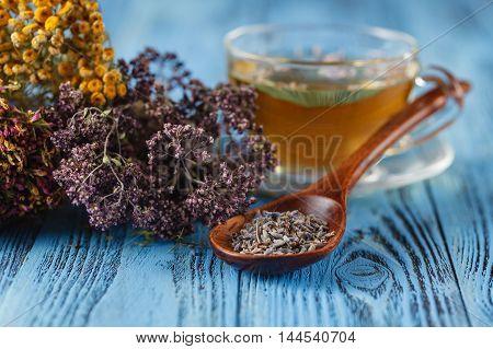 Herbal Medecine: Cup With Linden Tea