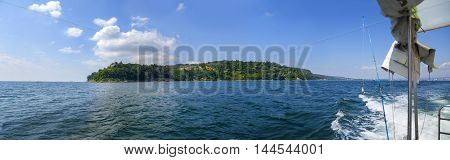 Landscape view of cape Galata, Varna bay, Black sea coast, Bulgaria