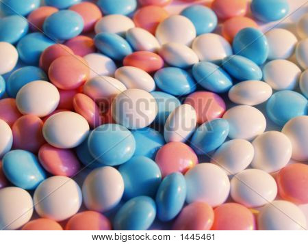Blue, White And Pink Pills