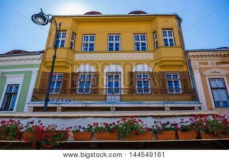 Tenement house at Nicolae Balcescu Boulevard in Sibiu city in Romania