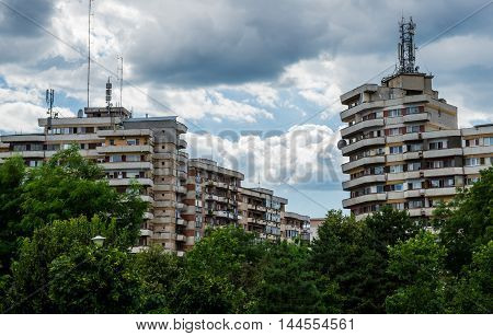 House of flats from communism period in Alba Iulia city in Romania