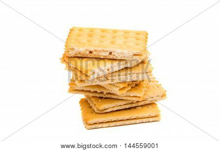 cracker sandwich crisp food on a white background
