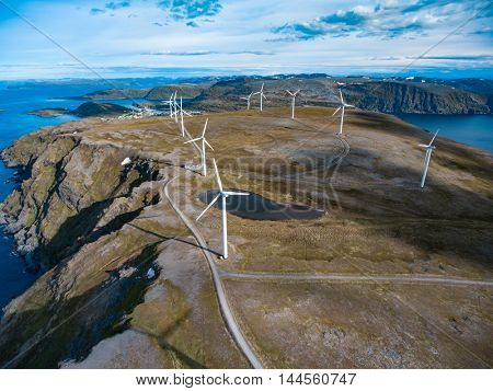 Windmills for electric power production. Northern Norway