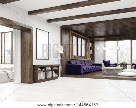 Sofa, Armchairs And Panoramic Window