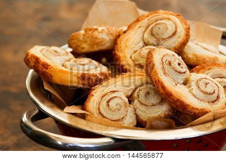 Gourmet Danish Puff Pastries Cinnamon Puff Pastry Scrolls Palmiers