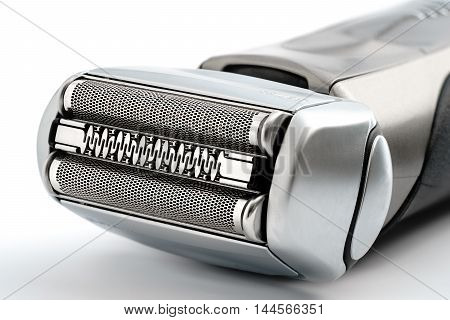 Electric shaver on white background isolated close-up