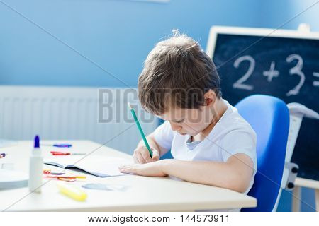 Little 7 Years Old Boy Solves Multiplication Table