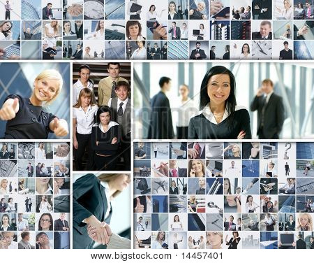 Business collage made of many business pictures
