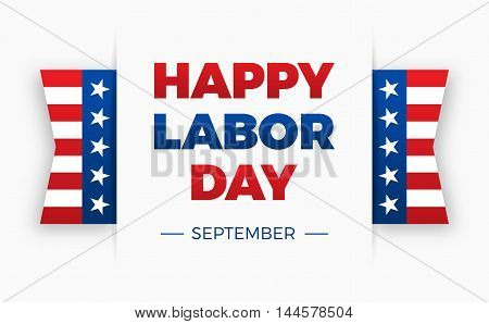 Happy Labor day, Holiday in United States of America celebrated on first monday in September, vector illustration, horizontal banner