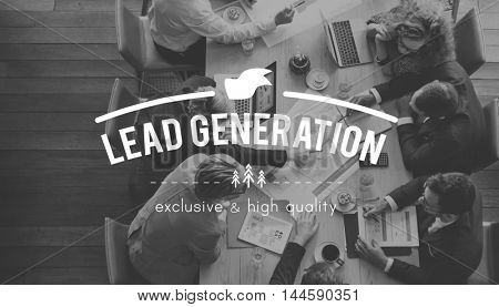 Lead Generation Marketing Consumer Interest Concept