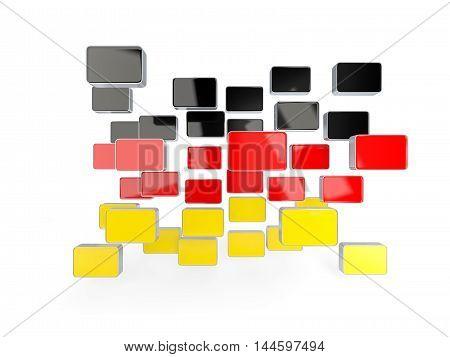 Flag Of Germany, Mosaic Background