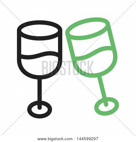 Champagne, glass, wine icon vector image. Can also be used for birthday. Suitable for use on web apps, mobile apps and print media.