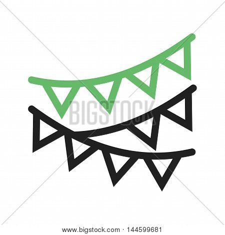 Birthday, party, flag icon vector image. Can also be used for birthday. Suitable for web apps, mobile apps and print media.