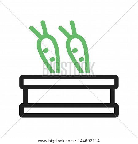 Vegetables, organic, harvest icon vector image. Can also be used for farm. Suitable for mobile apps, web apps and print media.