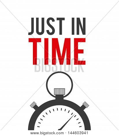 just in time label chronometer vector illustration design