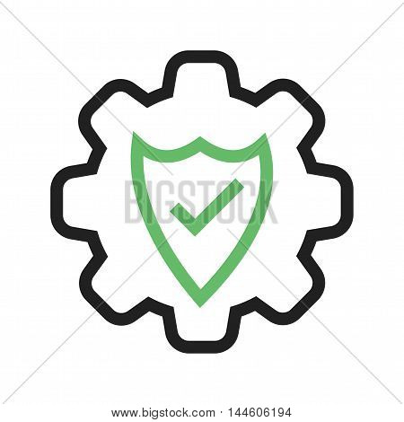 Security, cyber, settings icon vector image. Can also be used for web. Suitable for use on web apps, mobile apps and print media.