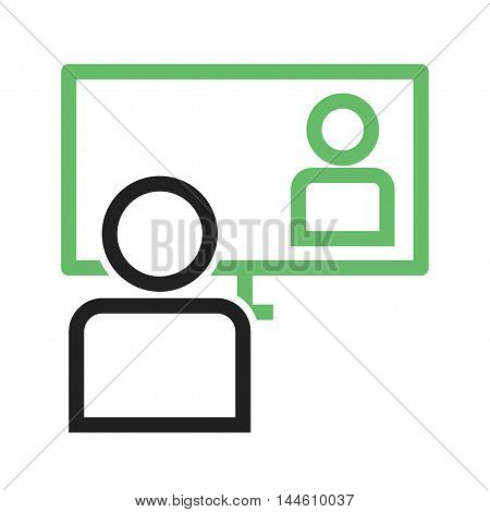 Online, webinar, learning icon vector image. Can also be used for E Learning. Suitable for mobile apps, web apps and print media.