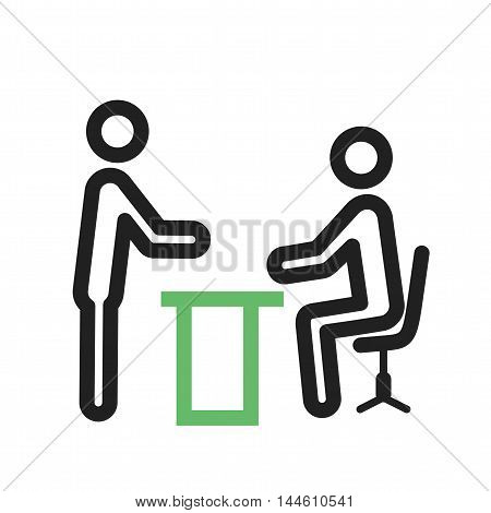 Boss, reading, document, icon vector image. Can also be used for people. Suitable for use on web apps, mobile apps and print media.