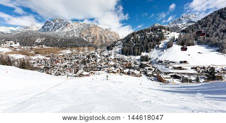 Mountain Village In The Dolomites