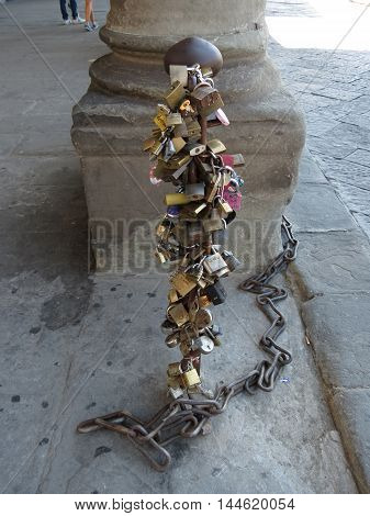 Love Lock Chain In Florence