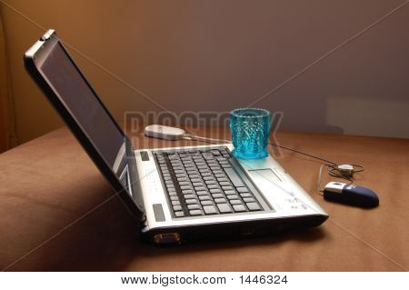Glass And Laptop