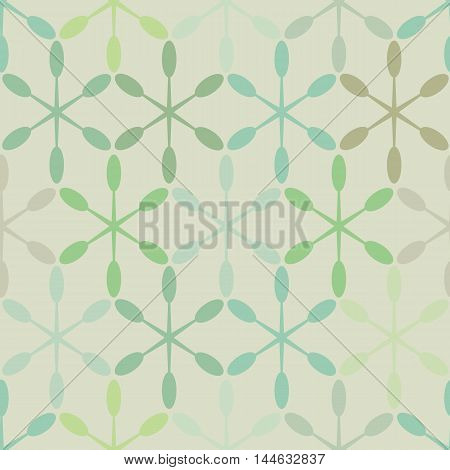 Abstract seamless pattern shades of green. Vector vintage pattern.